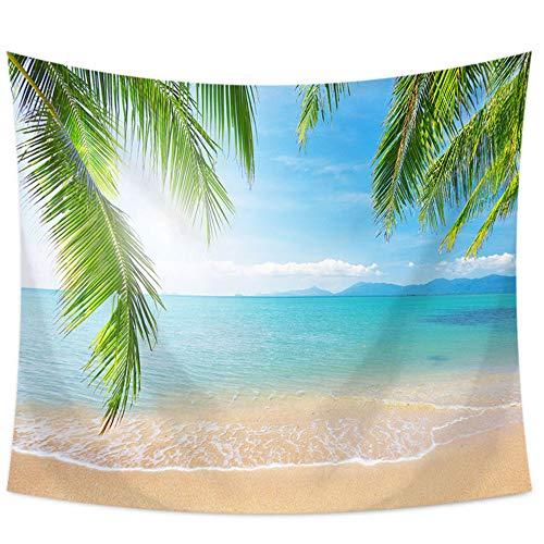 Ljfyxz arazzo panno appeso paesaggi da spiaggia decorazione murale pittura appesa tovaglia asciugamano divano soggiorno camera da letto 9 stili (colore : c, dimensioni : 150x200cm)