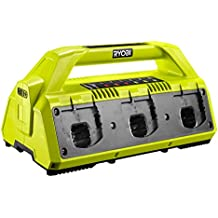 Ryobi RC18627 18 V 2.7 A ONE+ 6-Port Battery Charger - Hyper Green/Grey