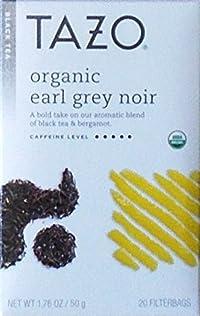 Tazo Organic Earl Grey Noir Black Tea Blend, 20 Filter Bags, 1.76 Oz.