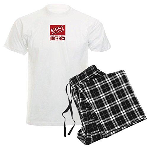 CafePress Eight Oclock Coffee Mug - Unisex Novelty Cotton Pajama Set, Comfortable PJ Sleepwear