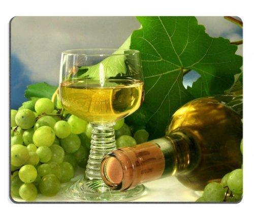 Verde Uva Vino Bianco in bottiglia di vetro Mouse Pad personalizzato, per sostegno Ready 97/8inch (250mm) X 7/8(200mm) X 1/16