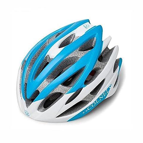 Lei HuanLeBao Fahrradhelm Neue abnehmbare Kappe spürt Helm One Molding Helm , white blue