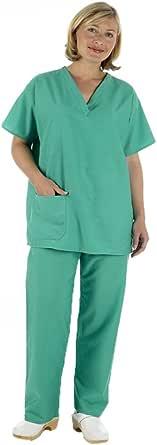 Ezy-Aid Pantalon m/édical r/éversible Unisexe Bleu ou Vert