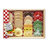 Melissa & Doug Sandwich-Making Set (Wooden Play Food, Wooden Storage Tray, High-Quality Materials, 16 Pieces)