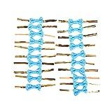20X Toruiwa Metallic Twist Krawatten Schleife Geschenk Verpackung für Cookie Süßigkeiten Taschen (Blau)