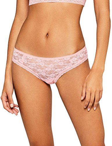 Iris & Lilly Damen Bikini Slip Soft Lace Rosa X-Large