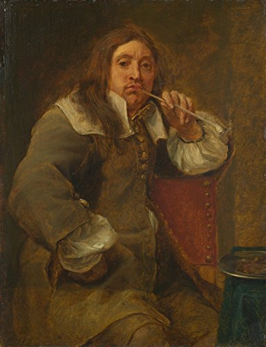 Das Museum Outlet-Gonzales Coques-Smell (Porträt von Lucas Fayd Manet), gespannte Leinwand Galerie verpackt. 29,7x 41,9cm