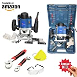 ISC / Yking Wood Working Router Machine with Bits 1600 W -12 Pieces