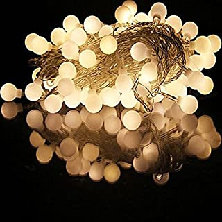 Ake Battery Operated LED String Lights 4M Outdoor String Lights Warm White Small Ball Fairy Light for Decoration