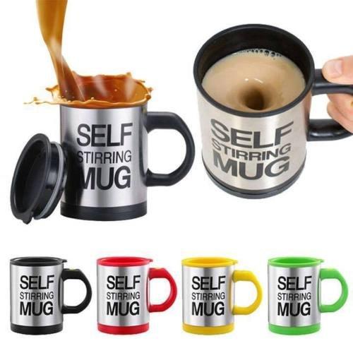Die selbstrührende Tasse Lazy Mug by Sunshine D Creations Elektrische Becher Twister Mug Schwarz