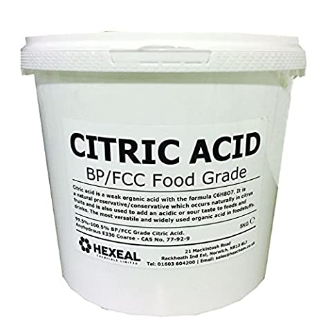 CITRIC ACID | 5KG BUCKET | 100% Anhydrous | BP/Food Grade | Additive, Bath, Brew