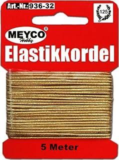 Meyco Hutgummi Elastik Kordel in schwarz und 4m länger zum Basteln