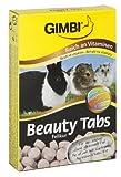 Gimbi Beauty Tabs Fellkur   Snack für Nagetiere mit Biotin, Zink und Vitaminen für glänzendes Fell   2 Packungen (2 x 55 g)