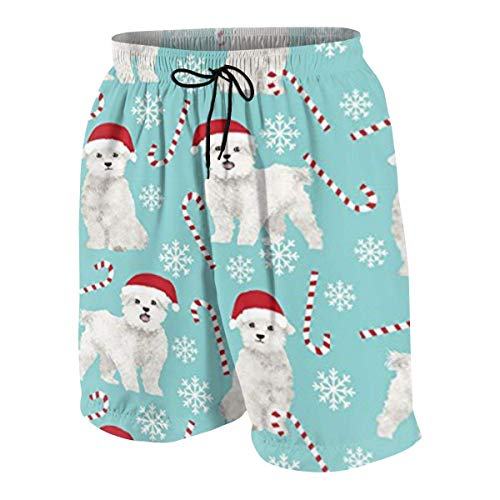 Pillow Socks Maltese Dogs Xmas Holiday Boys Beach Shorts Quick Dry Beach Swim Trunks Kids Swimsuit Beach Shorts,Boys' Classic Cargo Short XL