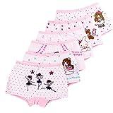 LeQeZe 6er Pack Kinder Mädchen Pantys Unterhose Baumwolle Schlüpfer Unterwäsche Boxershorts Slips 2-11 Jahre Größe 85-145 (Girls 6 Pack/01, 6-7Jahre)