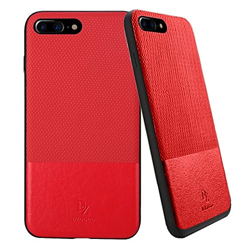 Hülle für iPhone 7 plus , Schutzhülle Für IPhone 7 Plus TPU + PC Business Style Lederbekleidung Schlagkombination Schutzhülle ,hülle für iPhone 7 plus , case for iphone 7 plus ( Color : Brown ) Red