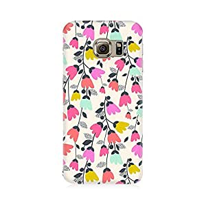 RAYITE Floral Jingle Pattern Premium Printed Mobile Back Case Cover For Samsung S6 Edge G9250