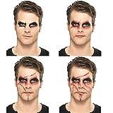 Lot maquillage Chucky Kit de maquillage cicatrice Halloween noir-rouge cosmétiques poupée tueuse tatouages cicatrices nécessaire de makeup blessure make up poupée zombie