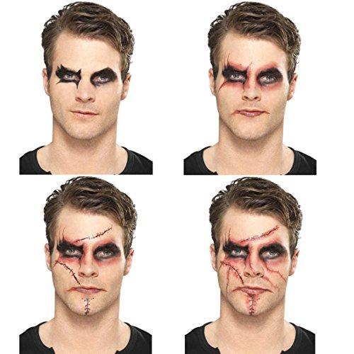 Caracterización Chucky Set maquillaje Halloween negro