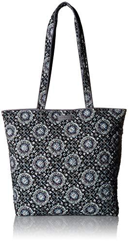 Vera Bradley Damen Iconic Bag, Cotton Ikonische Tote-Tasche, Signature Baumwolle, Charcoal Medallion, Einheitsgröße Vera Bradley Medallion