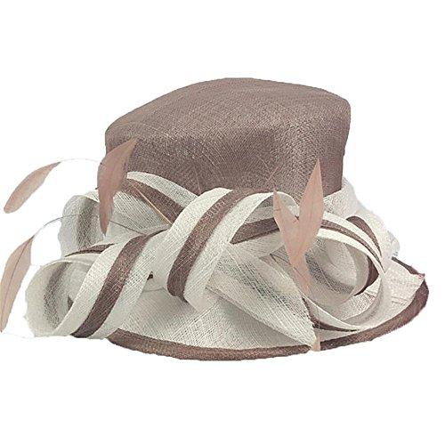 Der Hut der Damenhut Jockey Club hat eine Leinenkappe und eine Kapuze für den Sommer !
