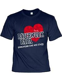 Vatertag T-Shirt Familie Geschenk Vater Stiefvater PATCHWORK PAPA GEMEINSAM SIND WIR STARK Geburtstagsgeschenk Papa Vatertagsgeschenk Geburtstag Dankeschön zu Weihnachten Vater : )