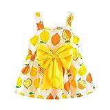 UOMOGO® Lemon Printed Neonato Vestito Princess Gallus Dress, Abito Bambina...