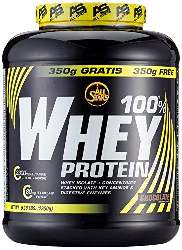 2g Protein (All Stars 100% Whey Protein, Schoko, 1er Pack (1 x 2350 g))