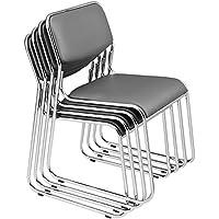 [Pro.tec] 4X chaises visiteurs (Gris - rembourrées)(en Pack économique) Chaise conférence/Chaise / Chaise de Bureau/Chaise / Salle d'attente - Chaise