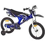 Kinderfahrrad Kawasaki Kids Bike Moto 16 Zoll mit Rücktrittbremse Farbe: Grün oder Blau