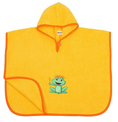 Betz Badeponcho Kinder Poncho mit Kapuze Poncho für Mädchen Jungen Badetuch Bademantel Kapuzenhandtuch Frosch KÖNIG 100% Baumwolle