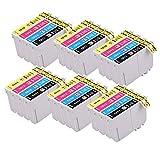 PerfectPrint Kompatibel Tinte Patrone Ersetzen für Epson Expression Home XP-102 202 212 215 205 225 30 302 305 312 315 18XL (Schwarz/Cyan/Magenta/Gelb, 24-pack)
