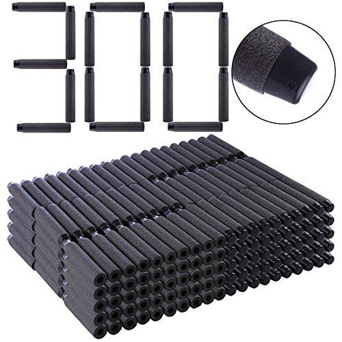 LoKauf 300 Darts Freccette Bullets per Nerf Rapidstrike/ Retaliator/ Modulus Blaster/ Surgefire/ ECS-10/ Elite Disruptor/ Firestrike/ Elite Jolt/ Rebelle /Accustrike Falconfire