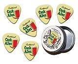 Nos médiators sont réels, utilisable guitar picks fabriqués de celluloïd de qualité premium et approprié pour l'usage effectif. Leur meilleur long-métrage est toutefois leur dessin imprimé. Elles disposent de l'incroyable art rétro de Martin Wiscombe...