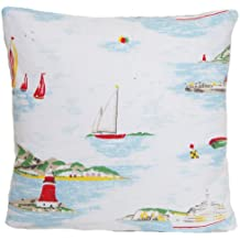 Blanco barcos funda para cojín de Cath Kidston decorativo almohada tela manta