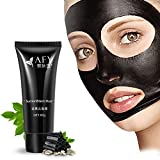 ROPALIA Suction Black Mask Deep Cleansing Face Mask Remove Blackhead Facial Mask 60ML