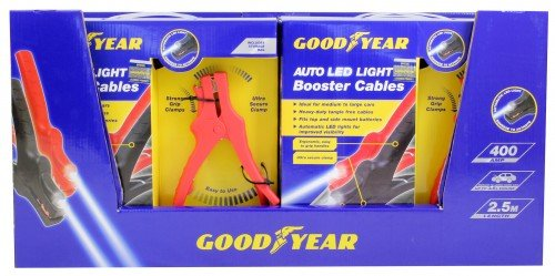 Goodyear 400Amp 2.5M High Power Auto LED Light Booster Hilfekabel Batteriekabel Schwerlast-starthilfekabel