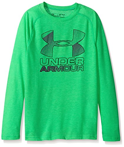 Under Armour Boys' UA Hybrid Big Logo Long Sleeve T-Shirt