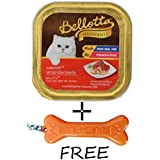Goofy Tails Bellotta Tuna Light Meat With Shrimps Cat Food (Pack Of 4, 80g) With Key Chain