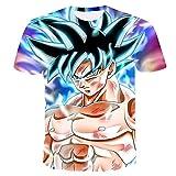 Beiläufiges Kurzarm T-Shirt Dragon Ball Z T-Shirt Herren 3D T-Shirt Super Saiyajin Goku Brolly Gedruckt Top T-Shirt Camiseta Hombre (Farbe : #27, größe : M)