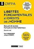 Libertés fondamentales et droits de l'homme - Textes français et internationaux