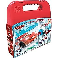 Cars - Maleta con puzzles progresivos, 12-16-20-25 (Educa Borrás 16506.0)