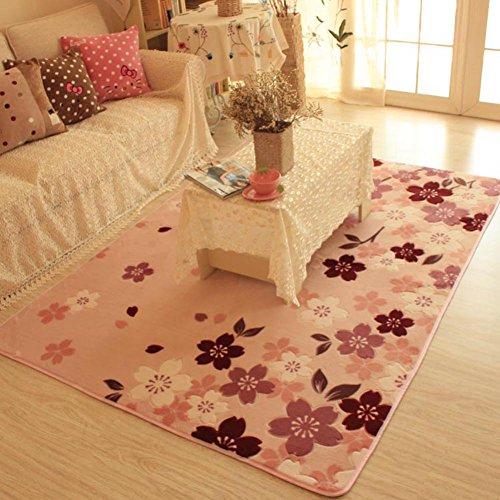 MeMoreCool Top Grade Beautiful Sakura rettangolare moderno motivo flanella rosa e Multi Area Tappeti per soggiorno/camera da letto comodino tappeto decorativo, ultra morbido, 200,7x 149,9cm, Poliestere, Pink, 79 inch by 59 inch