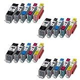 20 XL Druckerpatronen für Canon PGI570XL CLI571XL MIT CHIP und Füllstandanzeige für Canon Pixma MG5750 MG5751 MG5752 MG5753 MG6850 MG6851 MG6852 MG6853 TS5050 TS5051 TS5053 TS6050 TS6051 TS6052 kompatibel zu PGI570BK, CLI571BK, CLI571C, CLI571M, CLI571Y