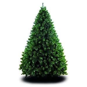 House of Fun Germogliato Albero di Natale Maxi 180 cm, 1.251 Rami Metallo Verde