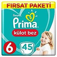 Prima Külot Bebek Bezi, 6 Beden, 45 Adet, Ekstra Large Fırsat Paketi