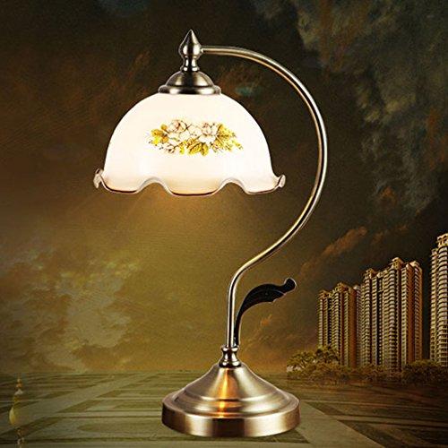 Hotel Schreibtischlampe Tischlampe ziehen Schalter Glas Lampenschirm Schlafzimmer Nacht Studie Jade Schreibtisch Lampe Wohnzimmer Licht (Farbe : B) - Jade-glas-schreibtisch