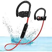 SunTop Auriculares Bluetooth Cascos Bluetooth magnéticos y Deportivos, Auriculares inalámbricos con Bluetooth Auriculares Sweat Resistant