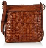 Cinque Perino Beutel - Bolso de mano de cuero hombre, color marrón, talla 36x33x10 cm (B x H x T)