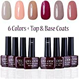 Gellen UV Gel Nail Polish Kit 6 Colors +...